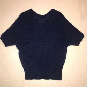 Gap Wool Blend V-Neck Sweater Navy XS